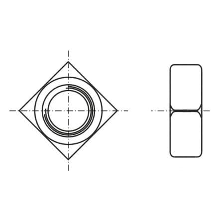 DIN 557-SS   Гайка квадратна с