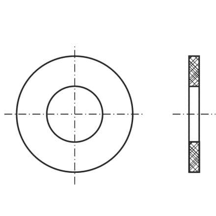DIN 126-SS   Шайба подложна бе