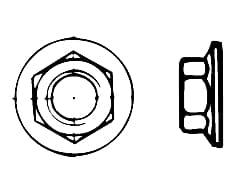 DIN 6923   Гайка фланшова шест
