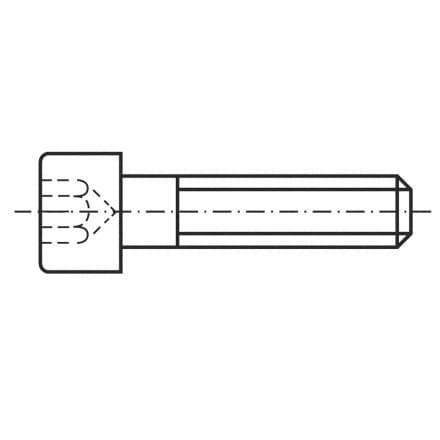 DIN 912   Винт с цилиндрична г