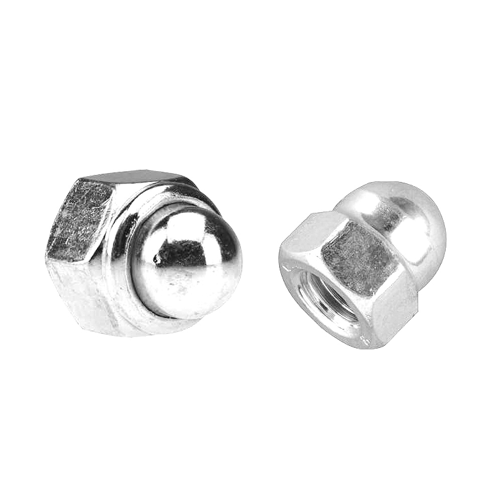 DIN 986-SS, Self locking domed cap nuts with nylon insert