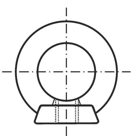 DIN 582-SS   Халка с гайка (ри