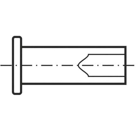 DIN 7338В   Нит плътен с цилин