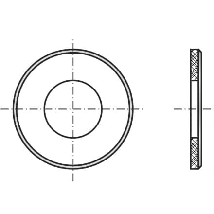 DIN 125B   Шайба подложна с фа