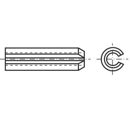 DIN 1481   Щифт цилиндричен, п